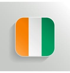 Button - Cote dIvoire Flag Icon vector image