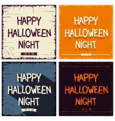 Halloween postcards set vector