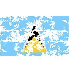 Flag of saint lucia with old texture vector