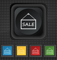 Sale tag icon sign symbol squared colourful vector
