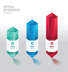 Modern infographics design crystal options banner vector
