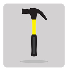 Flat icon hammer vector
