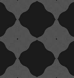 Monochrome pattern with wavy guilloche squares vector image