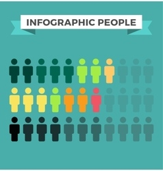 Human icons infographic design elements vector image