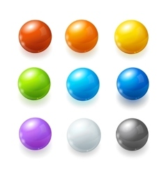 Rainbow balls set vector