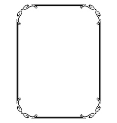 simple ornamental frame vector image