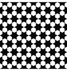 Seamless black white hexagram pattern vector