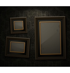 Exhibition wall paper frame vector
