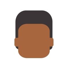 Faceless man portrait icon vector