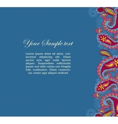 abstract background with paisley vector image