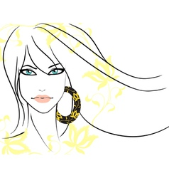 beautiful girl vector image vector image