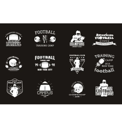 College rugby and american football team campus vector image vector image