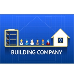 construction company emblem vector image