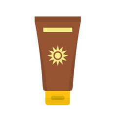 cream sun protection icon flat style vector image