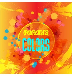 Digital abstract blue and yellow colors vector image