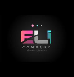 Eli e l i three letter logo icon design vector