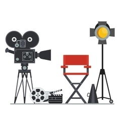 Film set director chair vector