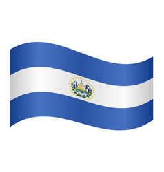 flag of el salvador waving on white background vector image