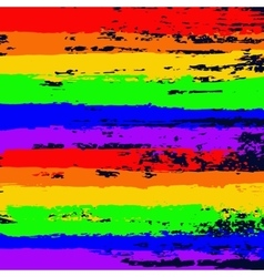 Gay Valentine Card Rainbow Flag vector image