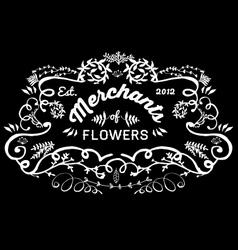 Hand Sketched florist frame vector image vector image