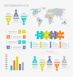 Infographic presentation templates vector