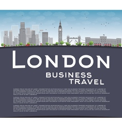 London skyline with skyscrapers clouds vector
