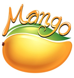Mango food label on white vector image vector image