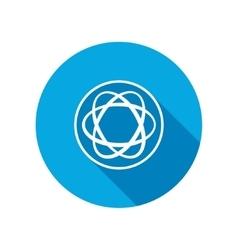 Molecule icon atom circle symbol vector