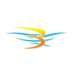 ocean logo vector image