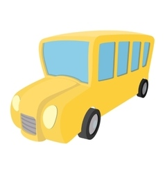 School bus cartoon icon vector image