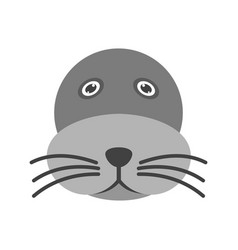 Sea lion face vector