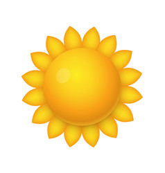 sun icon sign object on a white background vector image