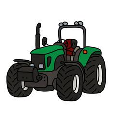 The green open tractor vector