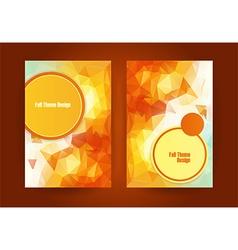 triangular orange fall season theme vector image vector image