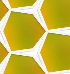 White hexagonal net with mesh seamless pattern vector