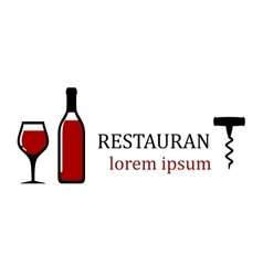 Wine bottle for restaurant signboard vector