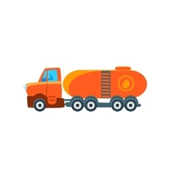 Gas truck toy cute car icon vector