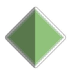 Isolated argyle diamond vector image