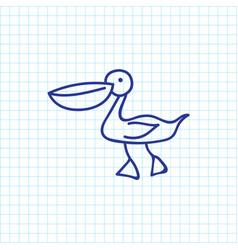 of zoo symbol on waterbird vector image