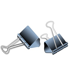 Bulldog clips vector