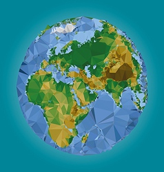 Earth world map low poly vector