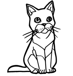 Cat and kitten coloring page vector