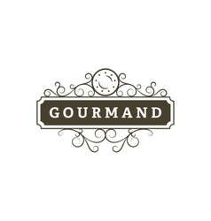 Gourmand restaurant banner vector