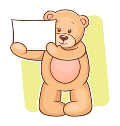 Teddy bear sign vector
