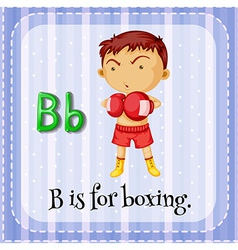 A letter b for boxer vector