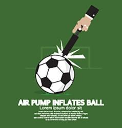 Air pump inflates ball vector