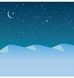 Arctic mountains vector