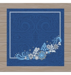 Blue christmas card vector image