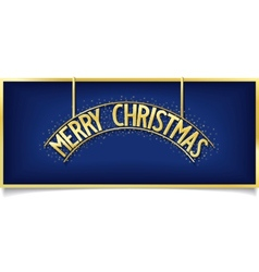 Blue christmas design inscription on signboard vector