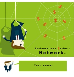 Business Idea series Network vector image